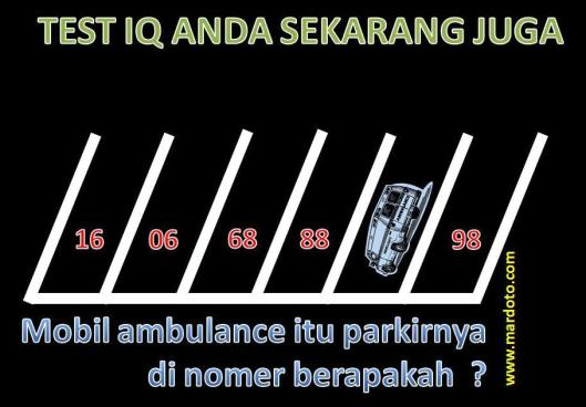 nomor parkir mobil